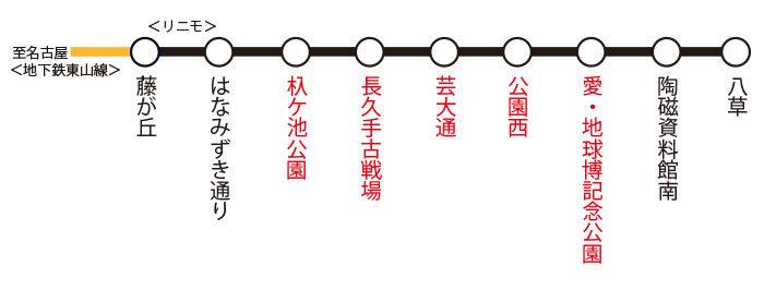リニモ路線図
